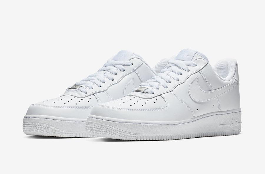 af1 all white low
