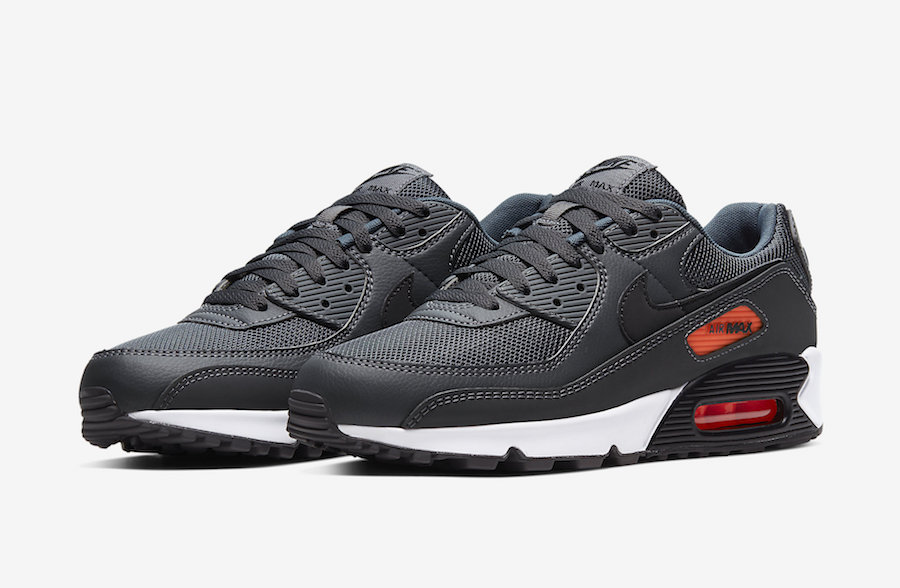 Official Images: Nike Air Max 90 Grey Bright Orange ...