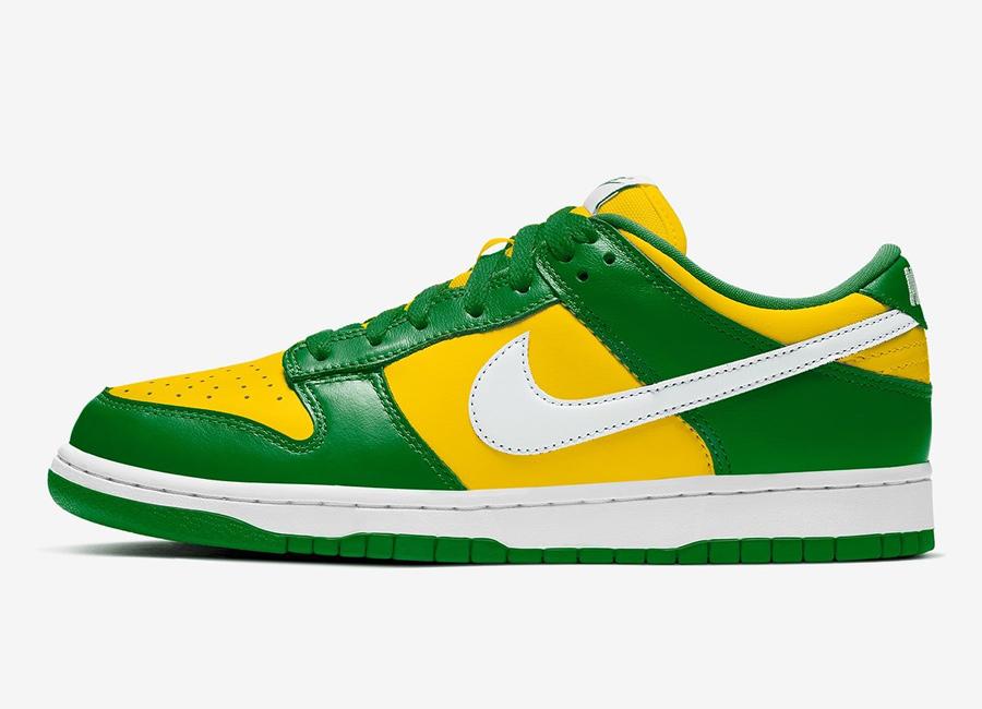 Vacilar Experto Que  Nike SB Dunk Low SP Varsity Maize Pine Green To Release Next Month •  KicksOnFire.com