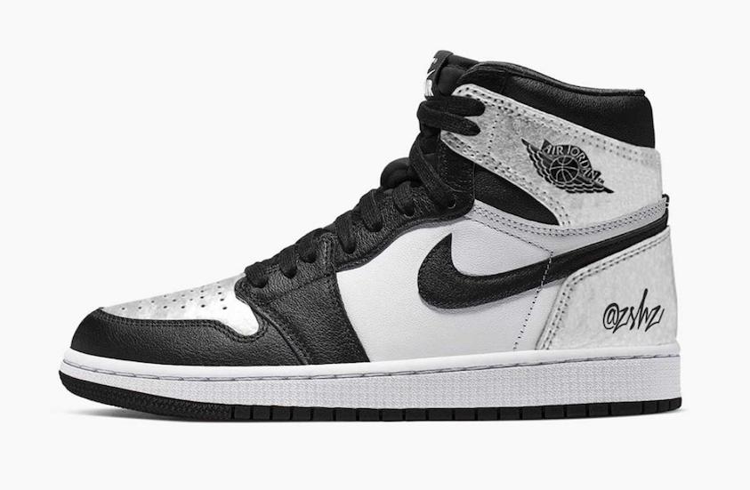 Air Jordan 1 High OG WMNS Silver Toe