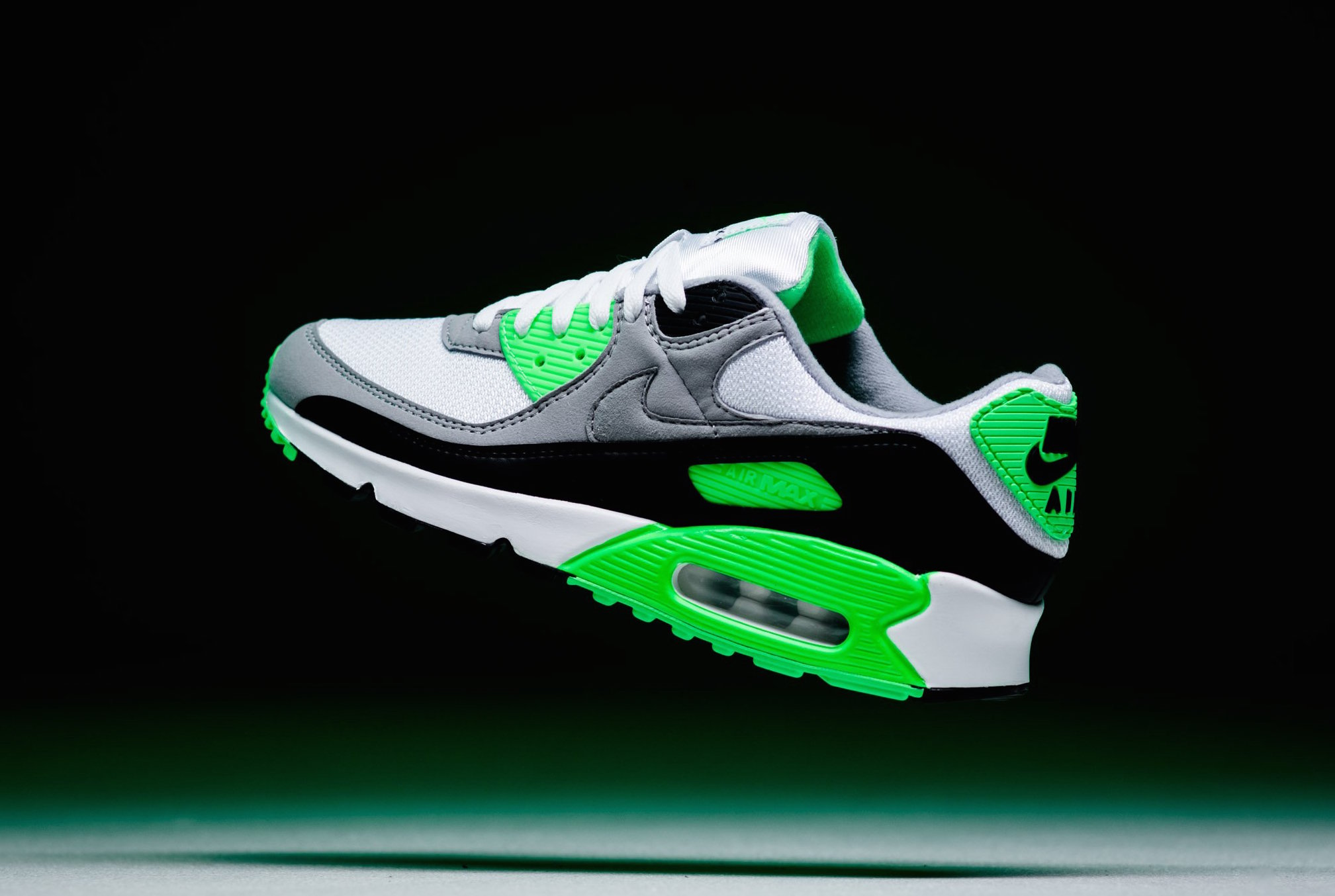 Look for the Nike Air Max 90 White Light Smoke Grey Green Now ...
