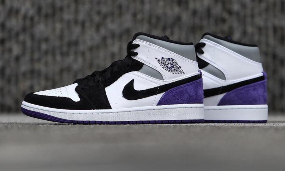 air jordan 1 mid purple