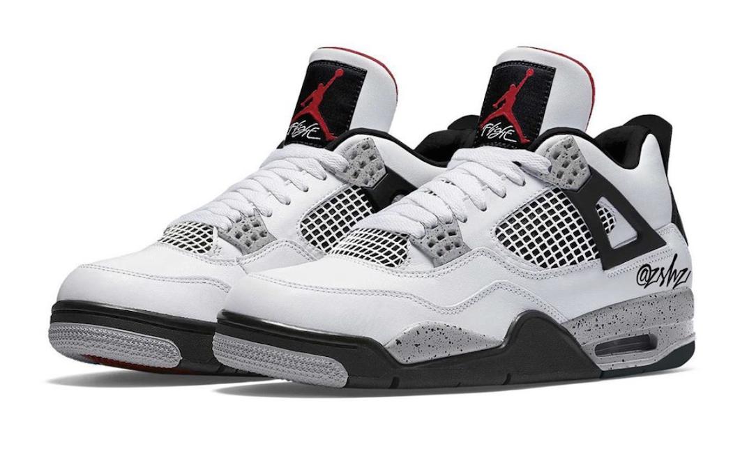 Air Jordan 4 White Oreo (Tech Grey) • KicksOnFire.com
