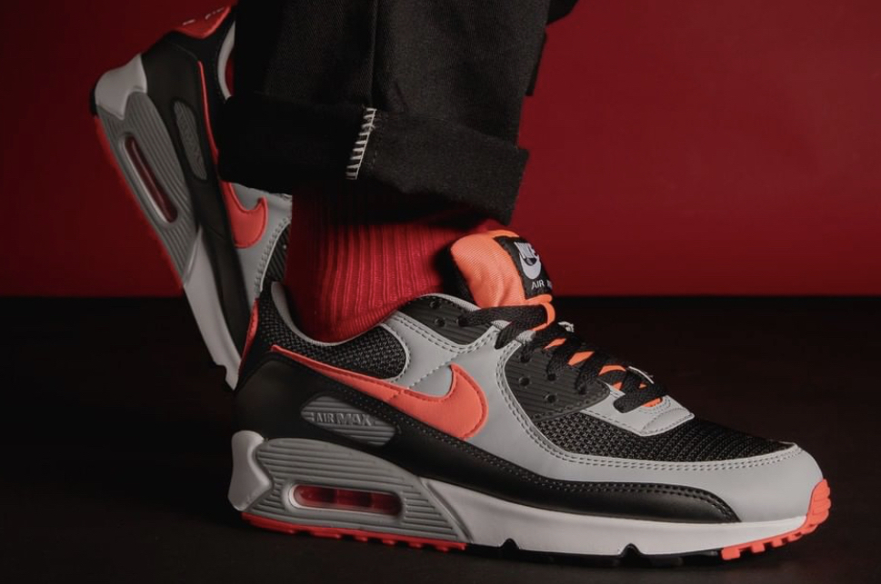 Get Flashy With the Nike Air Max 90 Radiant Red • KicksOnFire.com