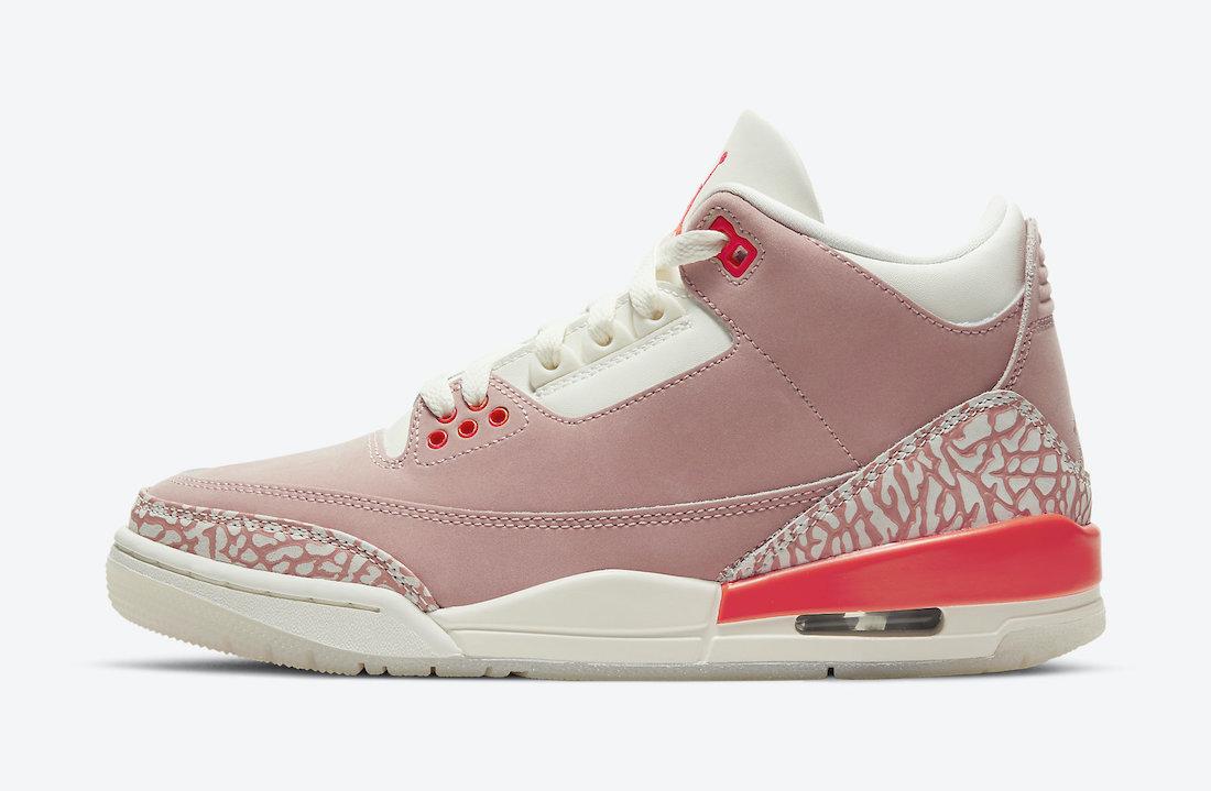 Air Jordan 3 WMNS Rust Pink • KicksOnFire.com