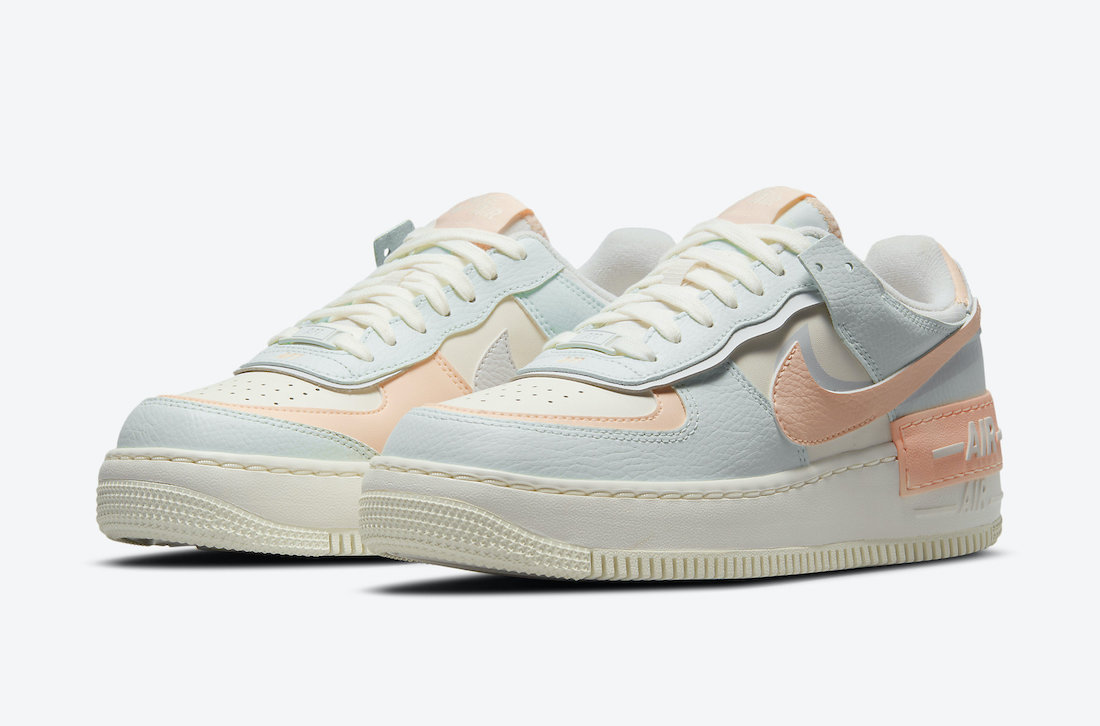 Coming Soon: Nike WMNS Air Force 1 Shadow Barely Green Crimson Tint