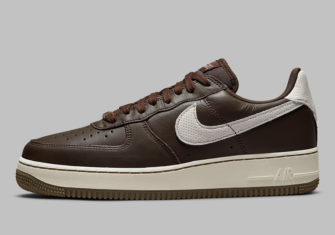 Dark Chocolate Leather Covers The Nike Air Force 1 Craft ...