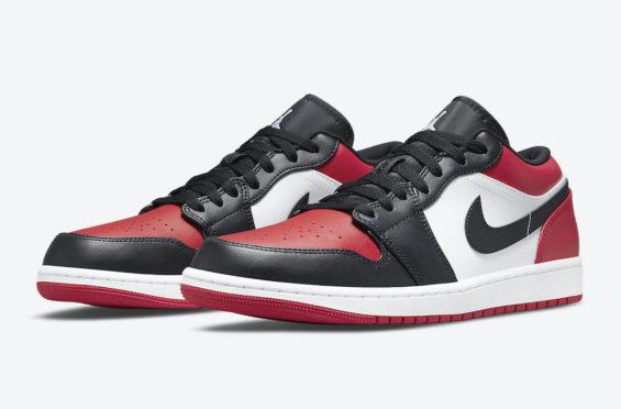The Air Jordan 1 Low Gets The Bred Toe Treatment