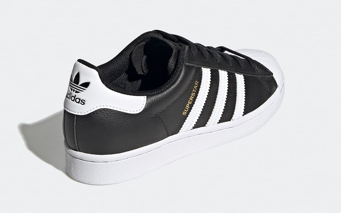 The Triple Tongue Adidas Superstar Revealed In Black