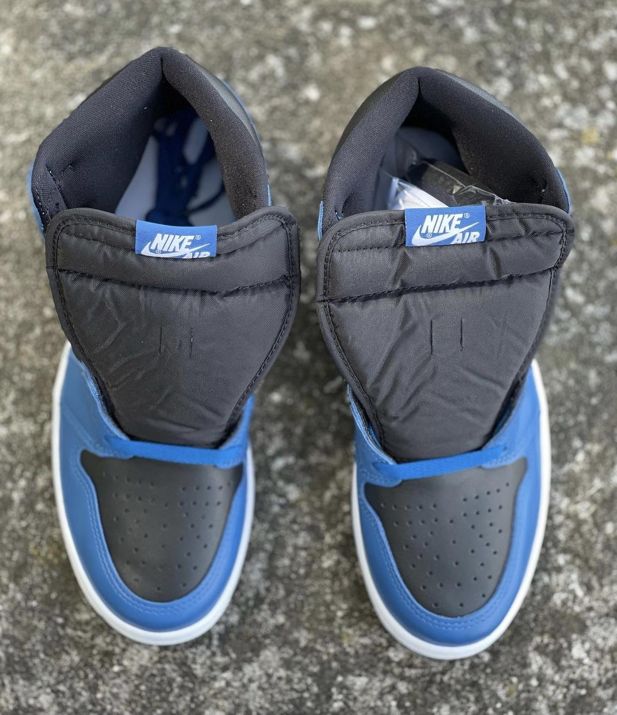 "In-hand Look At The Air Jordan 1 High Og ""dark Marina Blue"""
