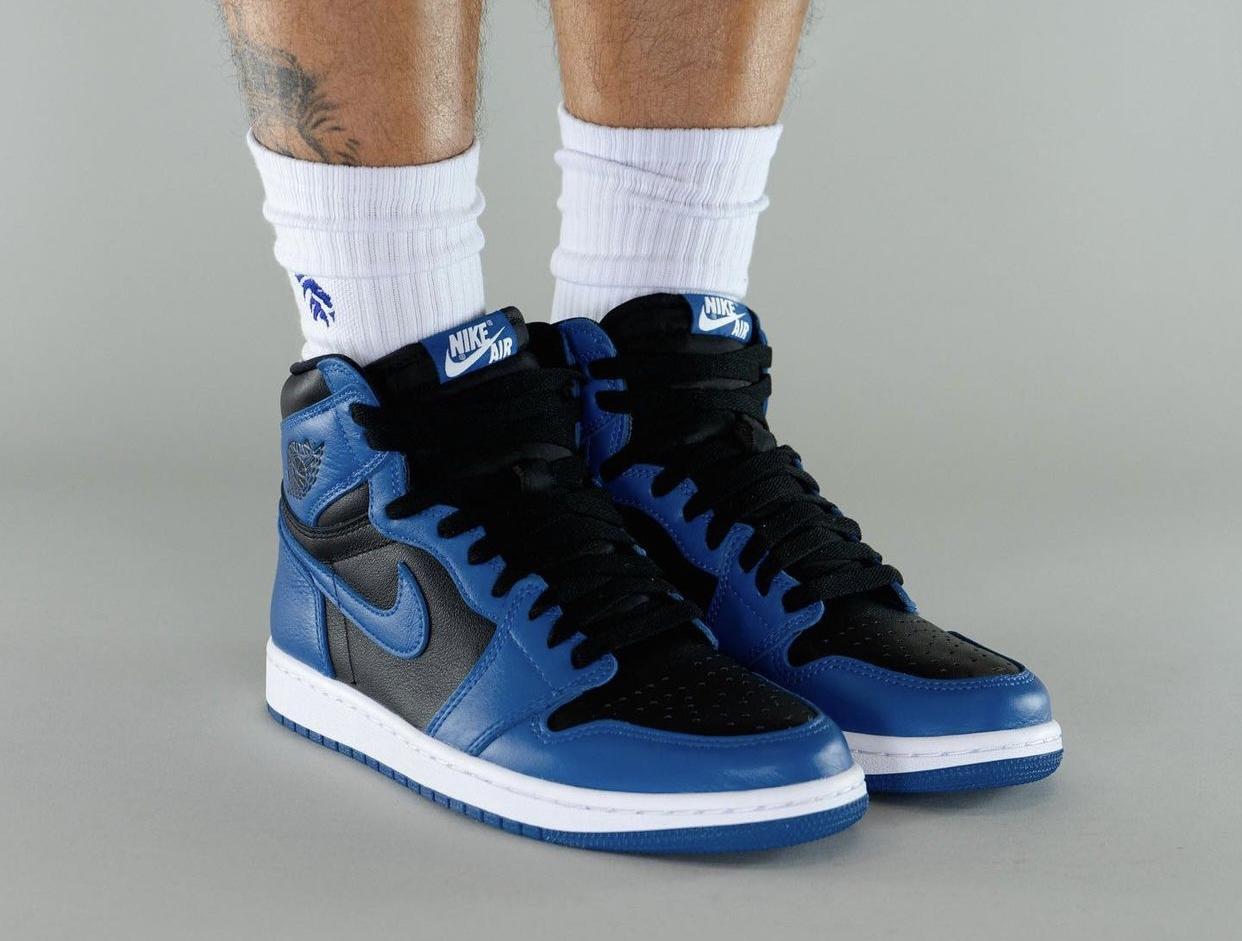 "On-feet Photos Of The Air Jordan 1 High Og ""dark Marina Blue"""