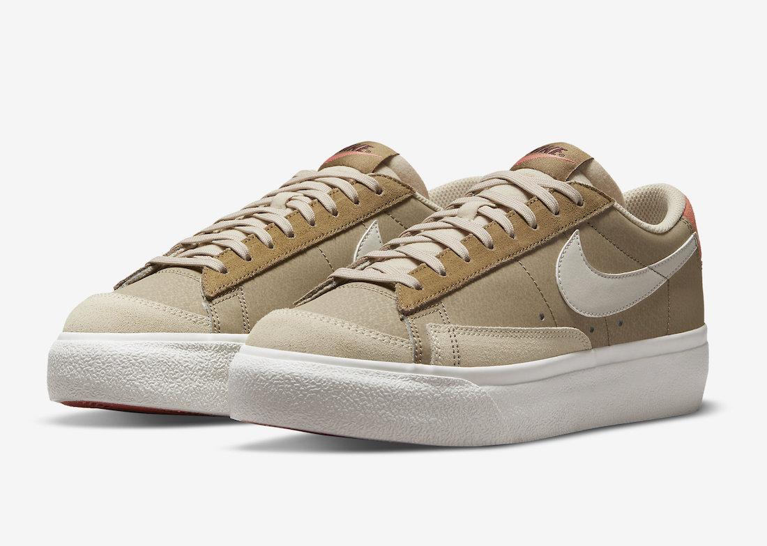 """Nike Blazer Low Platform Releasing In """"khaki"""""""